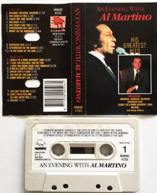 Al Martino - An Evening With Al Martino (Cassette Album) (VG/G+)